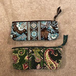 Vera Bradley Makeup Bag Java Blue Chelsea Green